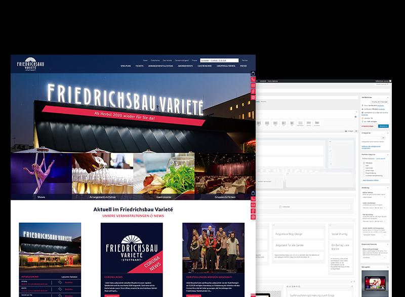 Referenz friedrichsbau-Wordpress WP Backend